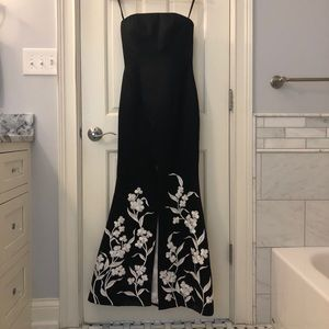Black and White Mermaid Formal Dress